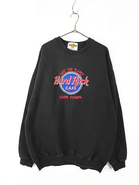 [1] 古着 90s Hard Rock Cafe 「CAPE TOWN」 BIGロゴ ハードロック スウェット XL位 古着