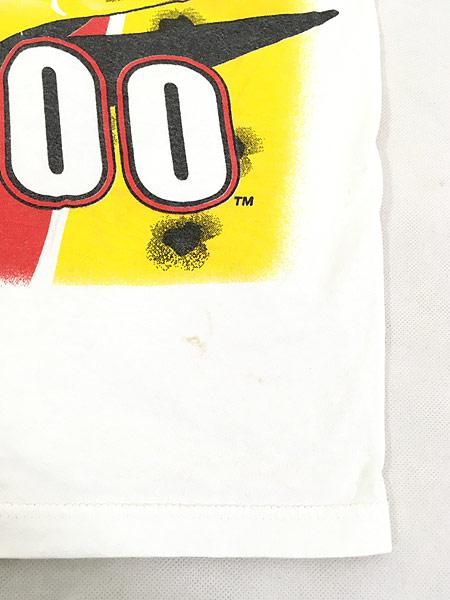 [5] 古着 90s 「buck shot Fired Up」 BIG 両面 プリント レーシング Tシャツ L 古着