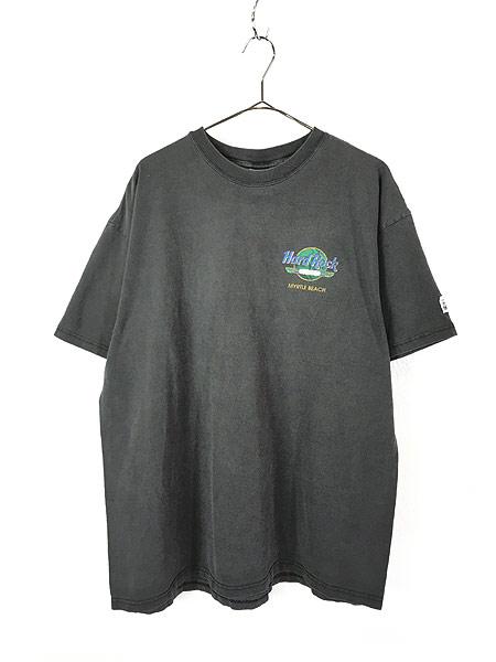 [1] 古着 90s Hard Rock Cafe 「MYRTLE BEACH」 エジプト ハードロック Tシャツ XXL 古着