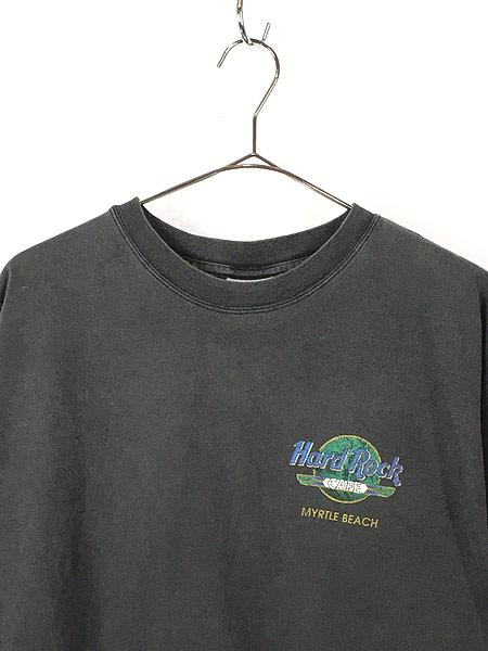 [2] 古着 90s Hard Rock Cafe 「MYRTLE BEACH」 エジプト ハードロック Tシャツ XXL 古着