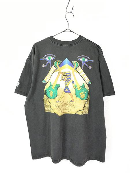 [3] 古着 90s Hard Rock Cafe 「MYRTLE BEACH」 エジプト ハードロック Tシャツ XXL 古着