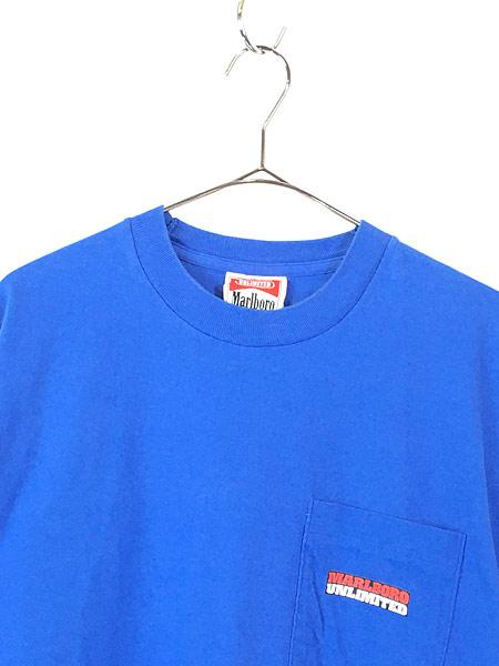 [2] 古着 90s USA製 Marlboro UNLIMITED コヨーテ ポケット Tシャツ ポケT レアカラー!! OSFA 古着