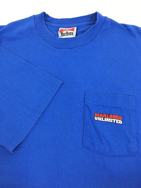 [4] 古着 90s USA製 Marlboro UNLIMITED コヨーテ ポケット Tシャツ ポケT レアカラー!! OSFA 古着
