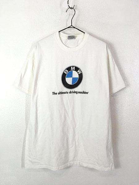 [1] 古着 90s USA製 BMW ロゴ オフィシャル カルチャー Tシャツ XL 古着