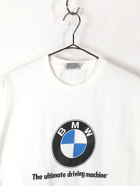 [2] 古着 90s USA製 BMW ロゴ オフィシャル カルチャー Tシャツ XL 古着