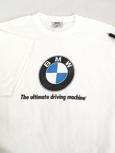 [4] 古着 90s USA製 BMW ロゴ オフィシャル カルチャー Tシャツ XL 古着