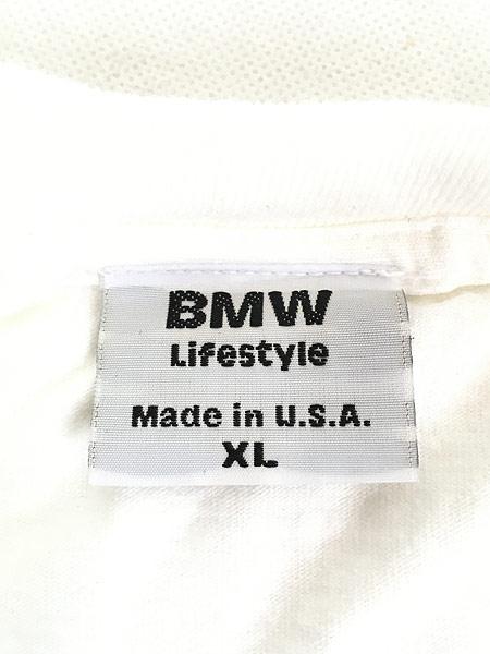 [5] 古着 90s USA製 BMW ロゴ オフィシャル カルチャー Tシャツ XL 古着