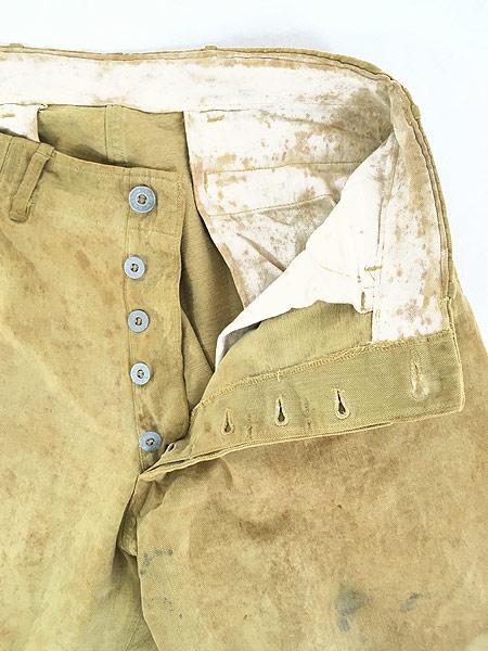 [8] 古着 40s 米軍 US ARMY メタルボタン ミリタリー レースアップ チノ ジョッパーズ パンツ W30 古着
