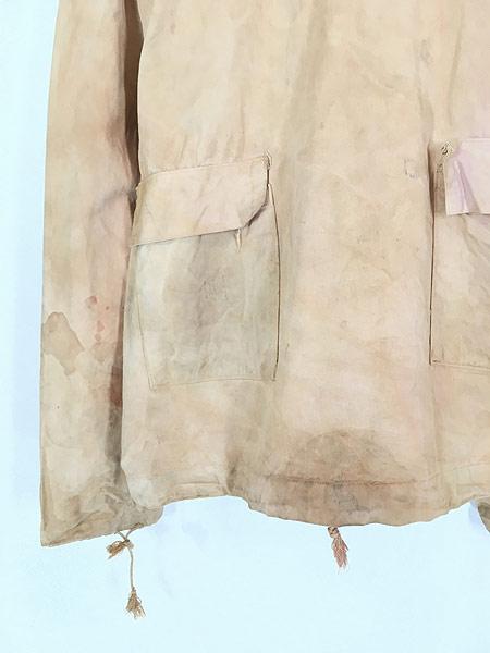 [2] 古着 40s 米軍 USN ミリタリー サルベージ パーカー スモック 褪せピンク 雰囲気 L 古着 【shop】