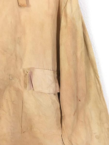[4] 古着 40s 米軍 USN ミリタリー サルベージ パーカー スモック 褪せピンク 雰囲気 L 古着 【shop】