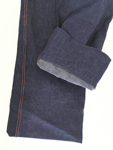 [5] 「Deadstock」 古着 50s 黒ラッカー 濃紺 デニム ワーク ペインター パンツ 使用感なし!! W35 古着