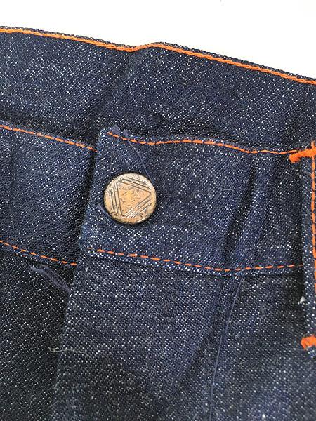 [8] 「Deadstock」 古着 50s 黒ラッカー 濃紺 デニム ワーク ペインター パンツ 使用感なし!! W35 古着