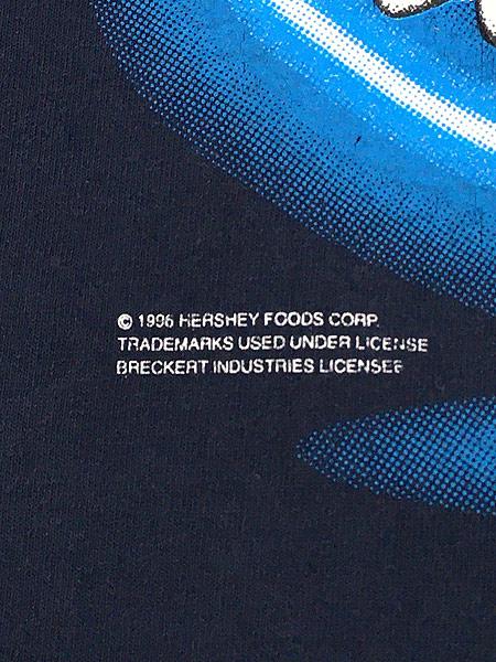 [6] 古着 90s HERSHEY'S チョコレート マスコット シルエット キャラクター Tシャツ L 古着