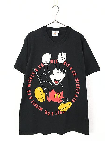 [1] 古着 90s USA製 Disney Mickey ミッキー BIG プリント キャラクター Tシャツ XL位 古着