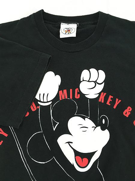 [5] 古着 90s USA製 Disney Mickey ミッキー BIG プリント キャラクター Tシャツ XL位 古着