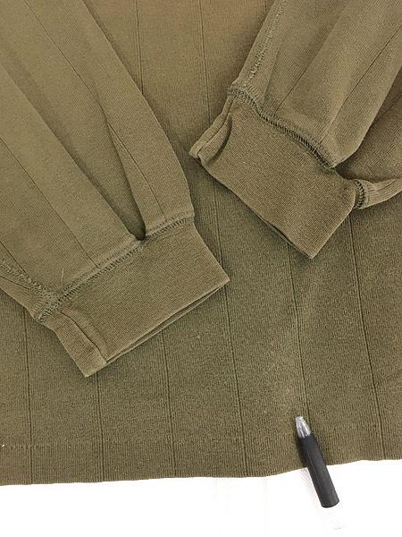 [4] 古着 80s Eddie Bauer 黒タグ 針抜き 100%コットン ヘンリーネック 長袖 Tシャツ ロンT L 古着