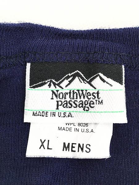 [5] 古着 80s USA製 North West Passage ソリッド サーマル カットソー トップス XL 古着