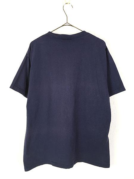 [3] 古着 90s USA製 Disney Mickey ミッキー キャラクター ワンポイント ポケット Tシャツ ポケT L 古着