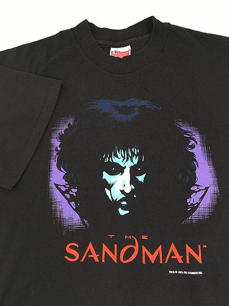 [4] 古着 90s USA製 DC Comics THE SANDMAN サンドマン キャラクター Tシャツ 黒 L 古着