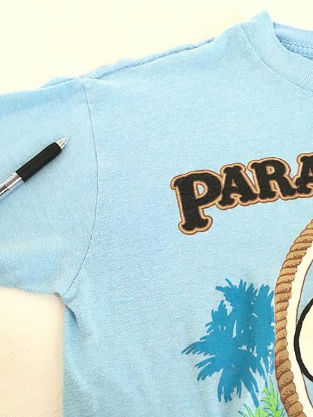 [5] 古着 80s USA製 ARTEX SNOOPY スヌーピー 「PARADISE JOE」 冒険家 キャラクター Tシャツ M 古着