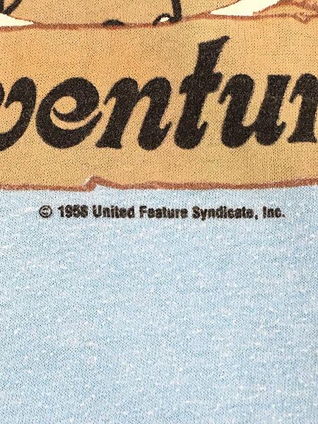 [6] 古着 80s USA製 ARTEX SNOOPY スヌーピー 「PARADISE JOE」 冒険家 キャラクター Tシャツ M 古着