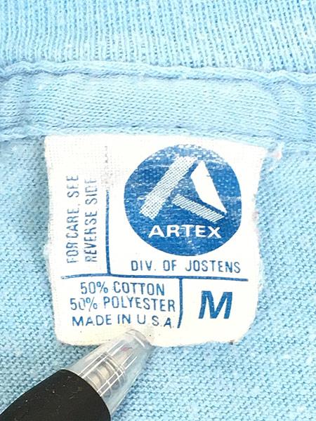 [7] 古着 80s USA製 ARTEX SNOOPY スヌーピー 「PARADISE JOE」 冒険家 キャラクター Tシャツ M 古着
