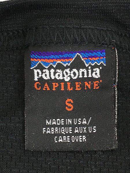 [5] 古着 99s USA製 Patagonia CAPILENE シンプル サーマル カットソー S 古着