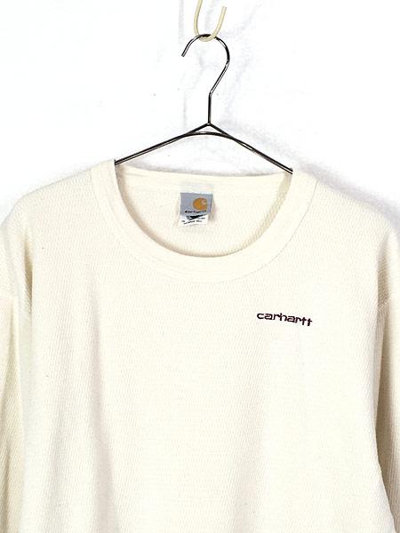 [2] 古着 00s USA製 Carhartt ハニーカム サーマル シャツ カットソー XL TALL 古着