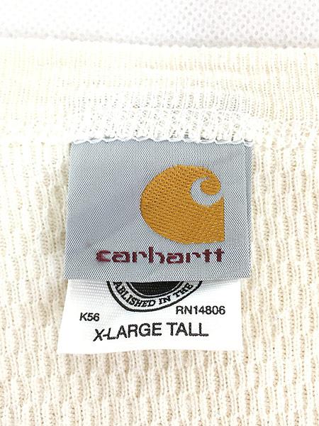 [5] 古着 00s USA製 Carhartt ハニーカム サーマル シャツ カットソー XL TALL 古着