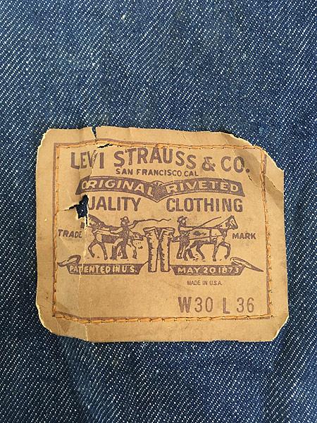 [3] 雑貨 古着 70s USA製 Levi's リーバイス 濃紺 デニム ハンド バッグ 中型 雑貨 古着