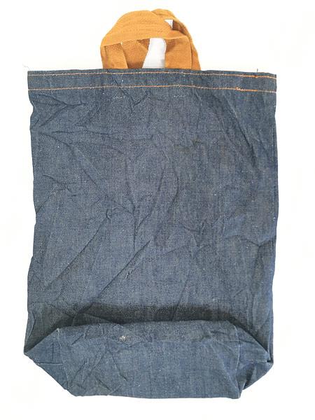 [6] 雑貨 古着 70s USA製 Levi's リーバイス 濃紺 デニム ハンド バッグ 中型 雑貨 古着