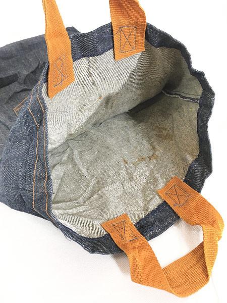 [8] 雑貨 古着 70s USA製 Levi's リーバイス 濃紺 デニム ハンド バッグ 中型 雑貨 古着