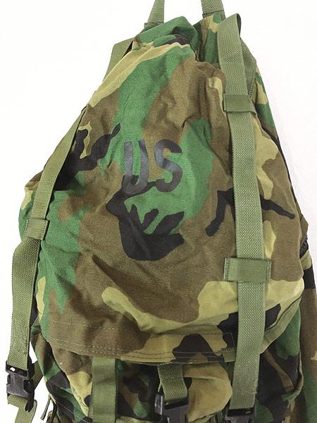 [2] 雑貨 古着 90s 米軍 「Crewman's Equipment」 迷彩 ナイロン リュックサック バックパック 大型 雑貨 古着
