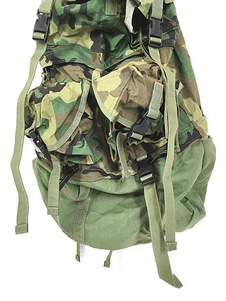 [3] 雑貨 古着 90s 米軍 「Crewman's Equipment」 迷彩 ナイロン リュックサック バックパック 大型 雑貨 古着