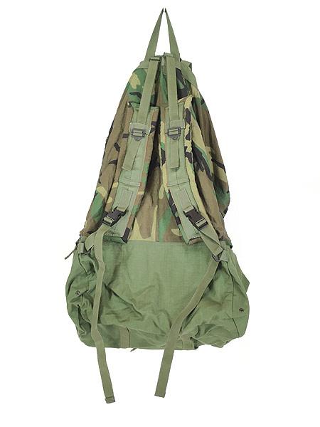 [4] 雑貨 古着 90s 米軍 「Crewman's Equipment」 迷彩 ナイロン リュックサック バックパック 大型 雑貨 古着