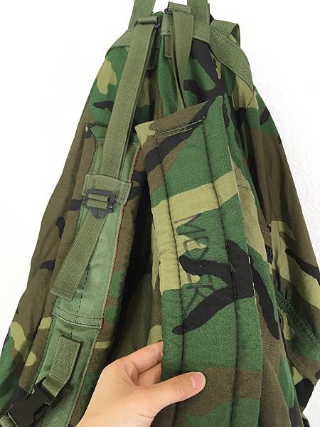 [5] 雑貨 古着 90s 米軍 「Crewman's Equipment」 迷彩 ナイロン リュックサック バックパック 大型 雑貨 古着