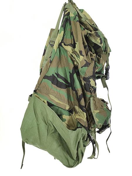 [7] 雑貨 古着 90s 米軍 「Crewman's Equipment」 迷彩 ナイロン リュックサック バックパック 大型 雑貨 古着