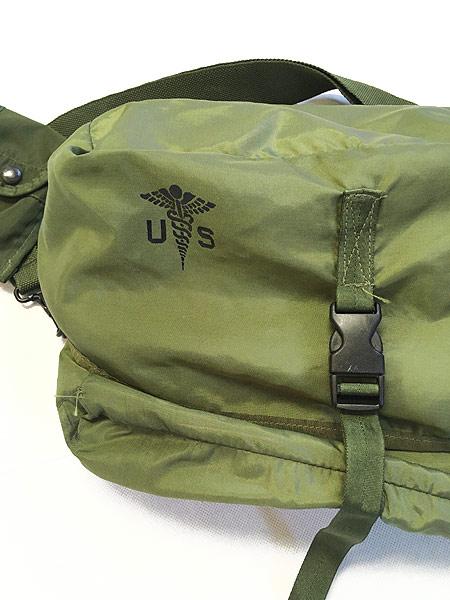 [2] 雑貨 古着 00s 米軍 US ARMY Medical Corps メディカル ミリタリー ナイロン ショルダー バッグ 中型 古着
