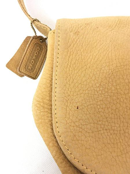 [2] 雑貨 古着 OLD COACH コーチ 本革 レザー フラップ ショルダー バッグ 中型 古着