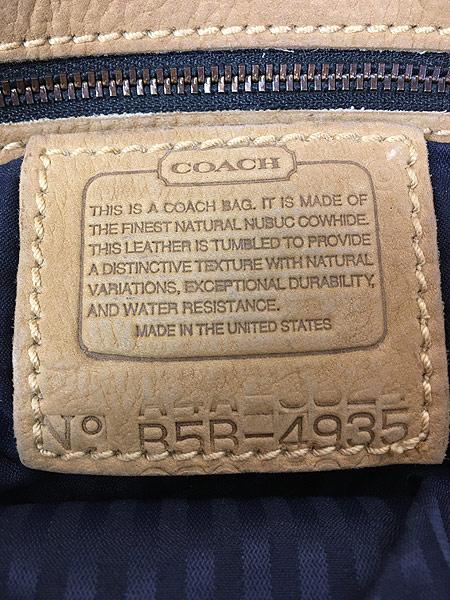 [8] 雑貨 古着 OLD COACH コーチ 本革 レザー フラップ ショルダー バッグ 中型 古着