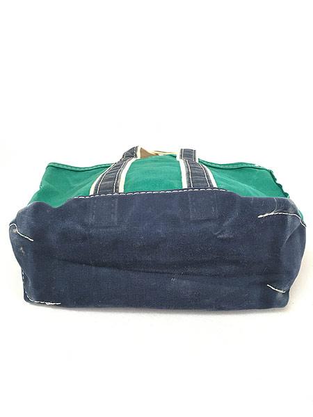 [4] 雑貨 古着 70-80s USA製 LL Bean 「Boat and Tote」 グリーン キャンバス トート バッグ 中型 古着