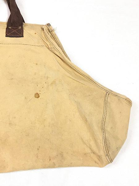 [2] 雑貨 古着 70-80s オールド ブラウン ダック キャンバス ツール トート バッグ 大型 古着