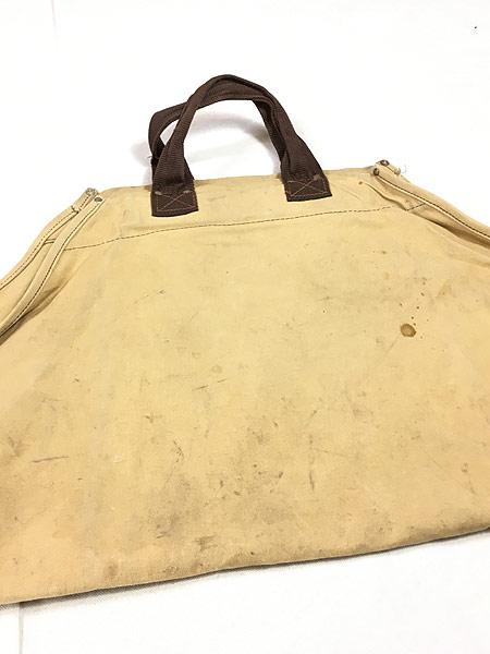 [3] 雑貨 古着 70-80s オールド ブラウン ダック キャンバス ツール トート バッグ 大型 古着