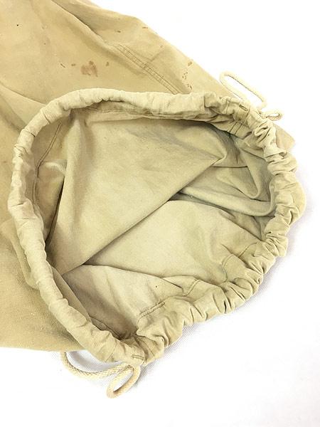 [5] 雑貨 古着 40s 米軍 ステンシル キャンバス コットン 巾着型 ランドリー バッグ 刺しゅう 大型 古着