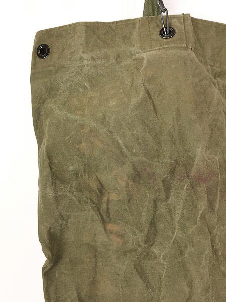[4] 雑貨 古着 70s 米軍 US ARMY ミリタリー ステンシル キャンバス 巾着型 ダッフル バック 大型 古着