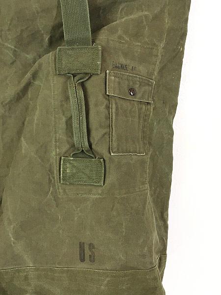 [5] 雑貨 古着 70s 米軍 US ARMY ミリタリー ステンシル キャンバス 巾着型 ダッフル バック 大型 古着