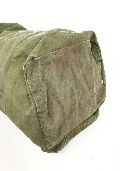 [6] 雑貨 古着 70s 米軍 US ARMY ミリタリー ステンシル キャンバス 巾着型 ダッフル バック 大型 古着