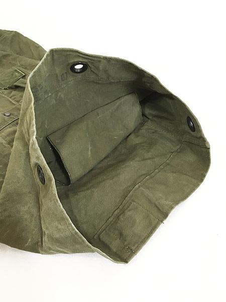 [7] 雑貨 古着 70s 米軍 US ARMY ミリタリー ステンシル キャンバス 巾着型 ダッフル バック 大型 古着