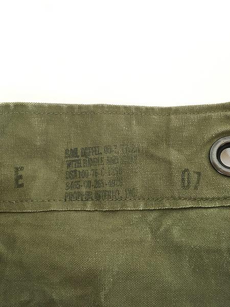[8] 雑貨 古着 70s 米軍 US ARMY ミリタリー ステンシル キャンバス 巾着型 ダッフル バック 大型 古着