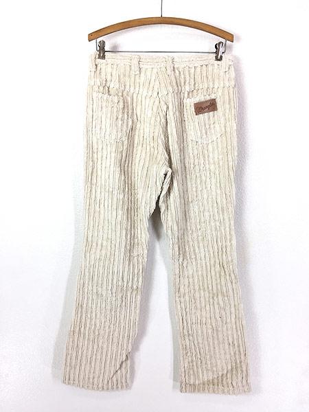 [4] 古着 60s Canada製 Wrangler 斜めベル パイル × コーデュロイ パンツ ブーツカット W30 L29 古着